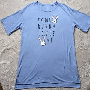 NWOT Some Bunny Loves Me Sexy Sleep Tee S/M